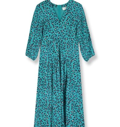 Pyrus Green Animal Print Ingrid Dress