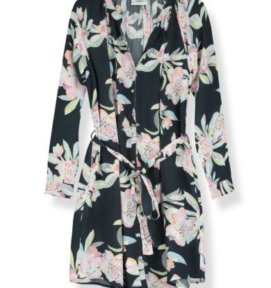 Pyrus Line Floral Tenor Dress in Silk