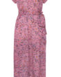 Primrose Park Fiona Dress in Pink Leopard
