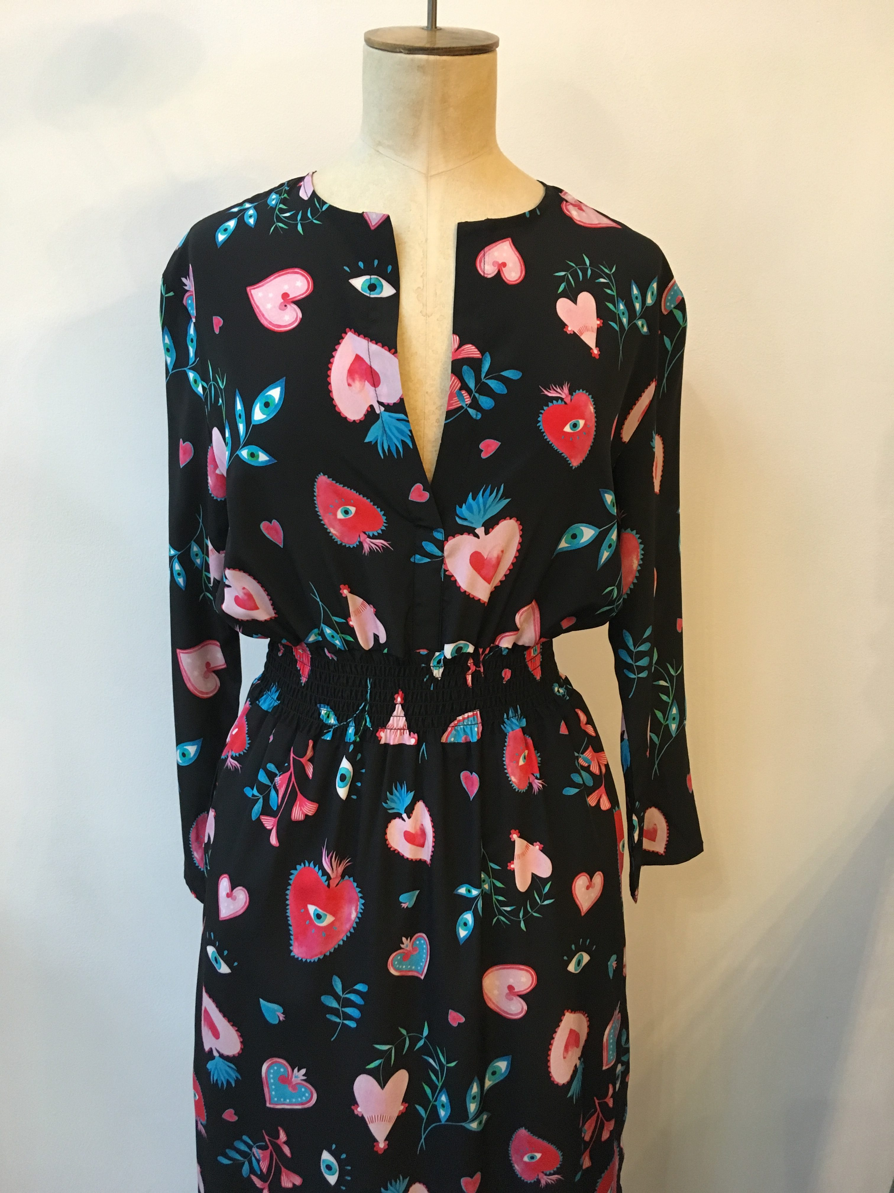 Primrose Park Tiffany Dress in Sacred Hearts Print
