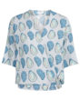 Fabienne Chapot Vera Top in Blue Oyster Print