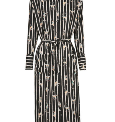 Nathalie Vleeschouwer Royal Shirt Dress In Summer Crepe – Apes