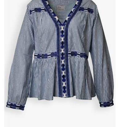 Le Petit Baigneur Peasant Blouse in Blue Stripe – SOLD OUT