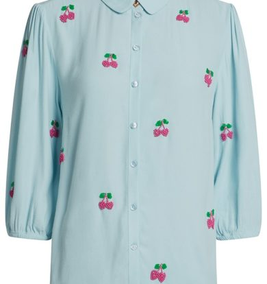 Fabienne Chapot Gina Show Blouse in Riviera Blue