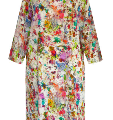 Pazuki Cotton /Linen Tunic in Splatter Print
