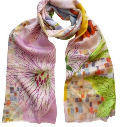 Pazuki Chelsea Wrap Scarf in Cotton /Silk /Cashmere
