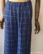 Diega Blue Check Trousers in Linen