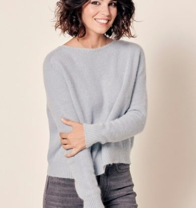Stella Forest Joann Angora Sweater in Duck Egg – Sold Out