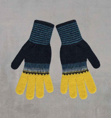 Quinton & Chadwick Fade Out Knitted Glove in Ocean