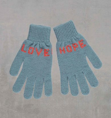 Quinton & Chadwick Hope / Love Gloves in Duck Egg & Coral