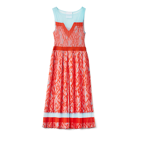 Delicate Love Kira Heart Dress in Bright Coral