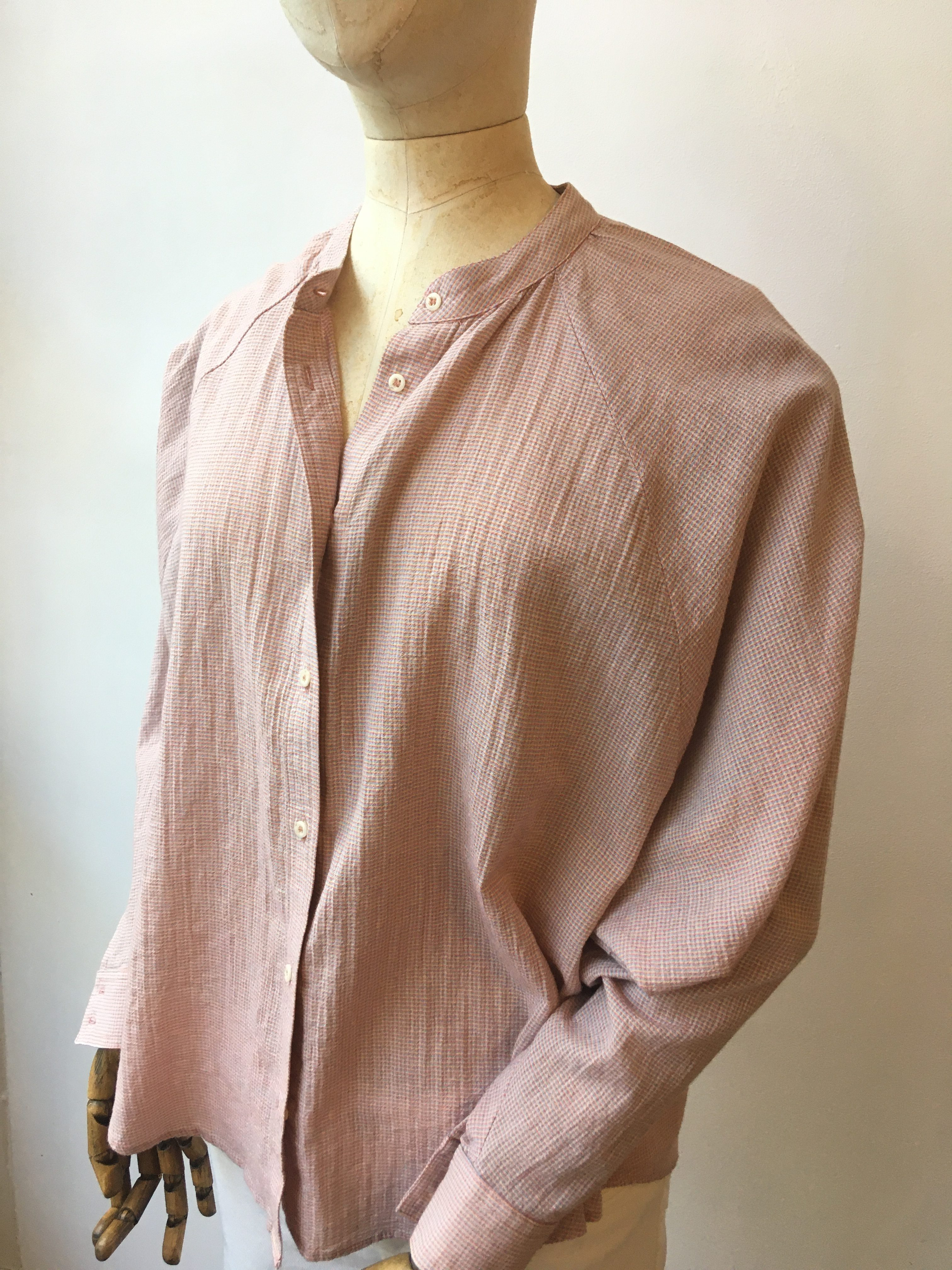 Sacrecoeur Nora Cotton Shirt in Pale Red