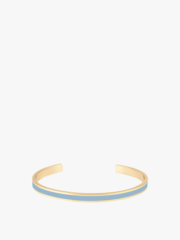 Bangle Up Enamel and Brass Cuff in Baby Blue /Gold