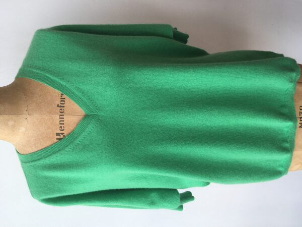 Cash CA Green 2 ply cashmere jumper