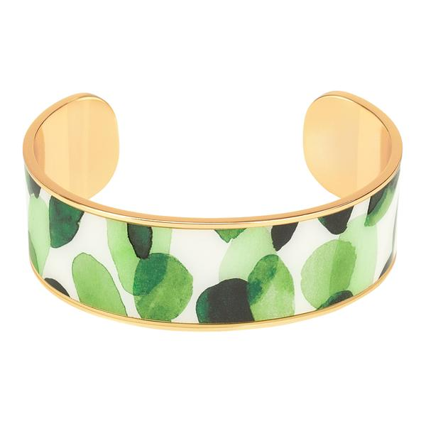 Bangle Up Eden Cuff in Green / Gold