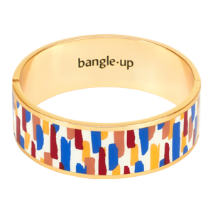Bangle Up Zellige Claps Bracelet in Majorelle Blue / Gold