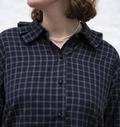 East by East West Curno Shirt in Charcoal Check