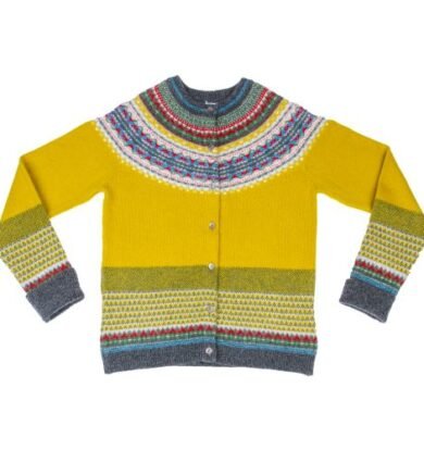 Eribe Alpine Cropped Cardigan in Piccalilli