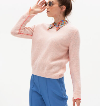 Nathalie Vleeschouwer Avalon Sweater in Light Salmon Pink