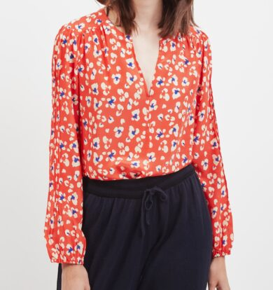 Pyrus Jamie Top in Red Animal