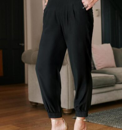 Pyrus Masha Joggers in Black Silk  –  XS Only