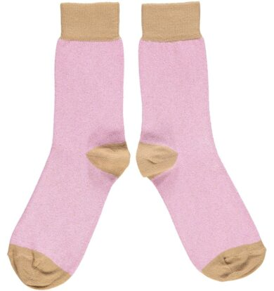 Catherine Tough Lilac and Copper Ankle Socks