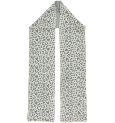 Catherine Tough Sea Green and Oatmeal Leopard Scarf