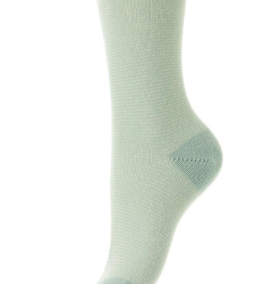 Pantherella Fine Stripe Cashmere Socks in Ice Blue