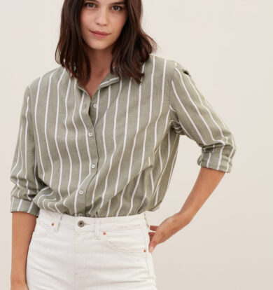 Sacrecoeur Anita Striped Shirt in Forest
