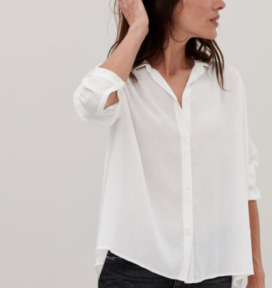 Sacrecoeur Chole Shirt in Milk – LOW STOCK