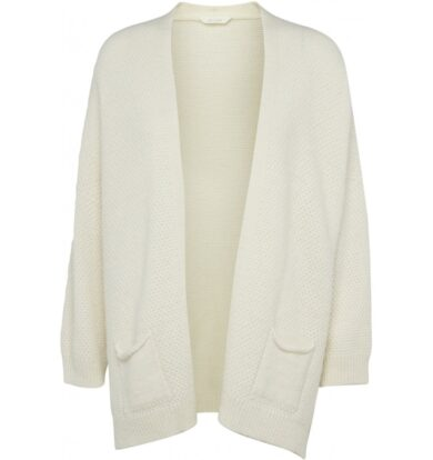 Gai + Lisva Charlotte Cardigan in Off White