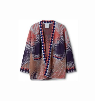 Delicate Love Anja Feather Cardigan in Pigeon