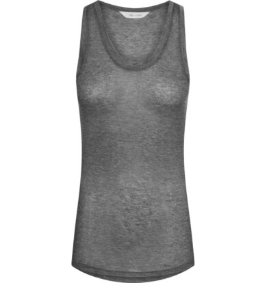 Gai + Lisva Nellie Racer Back Vest in Light Grey Melange