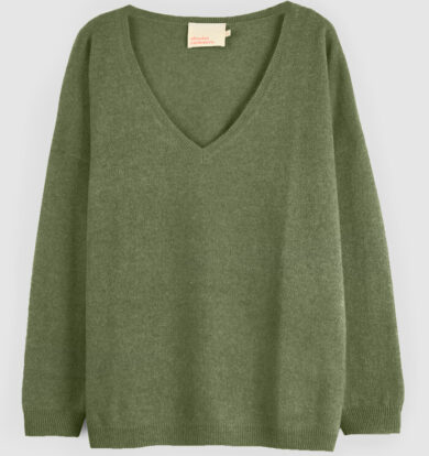 Absolut Cashmere Camille Oversized Cashmere Jumper in Khaki