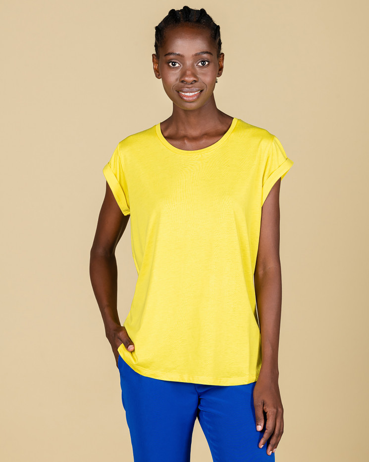 Absolut Cashmere Jeanne T-shirt in Citron Yellow