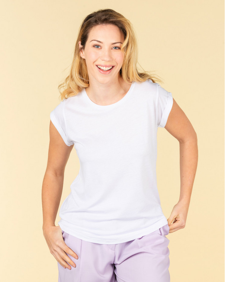 Absolut Cashmere Jeanne T-shirt in White