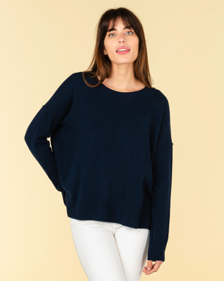 Absolut Cashmere Kenza Jumper in Navy Blue – LOW STOCK