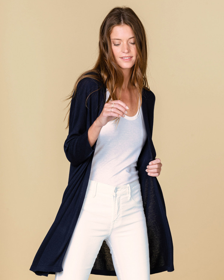 Absolut Cashmere Sirine Cardigan in Nuit  / Navy